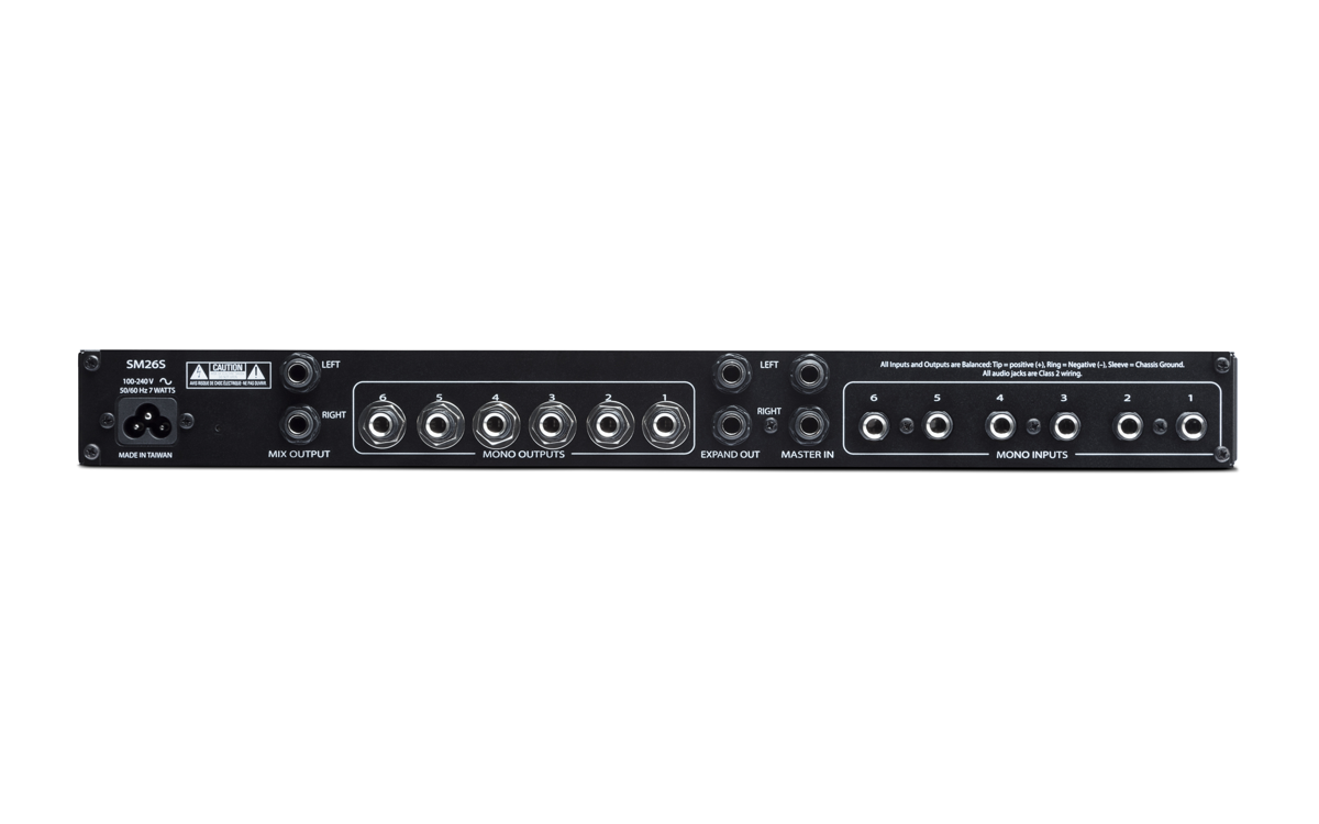 Rane Sm26s Active Microphone Preamplifier Using Lf356 Use As A 6 Channel Mixer Or Multi Splitter